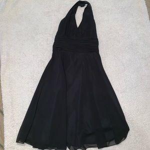 London Times Black Halter Dress